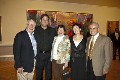 Van Campbell, artist Brian Rutenberg, Susan Campbell, Gale and Jerry Messerman