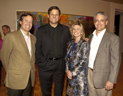 Kevin Mooney, artist Brian Rutenberg, Marnie and Marc Chardon