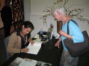 Book signing following the lecture