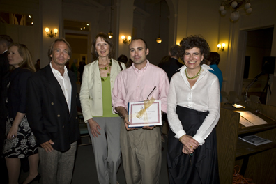 Smith Coleman, Mary Whyte, 2009 winner Dayton Colie, and Angela Mack