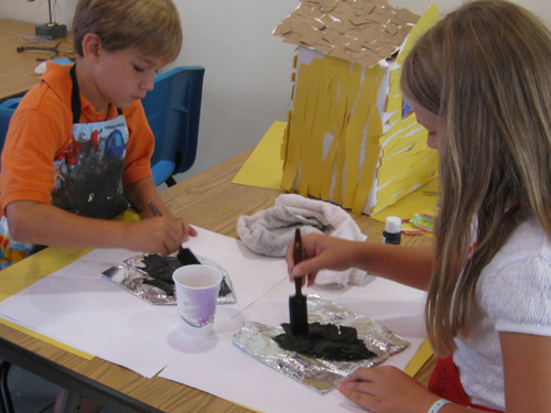 Summer campers hard at work.