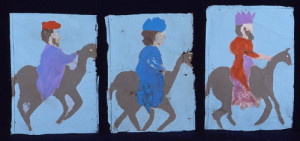 Three Wise Men, ca. 1970, by Sam Doyle