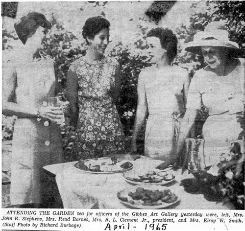 A garden tea hosted by the Women's Council of the GMA.