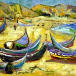 Boats of Nazare, ca. 1965, by Corrie McCallum