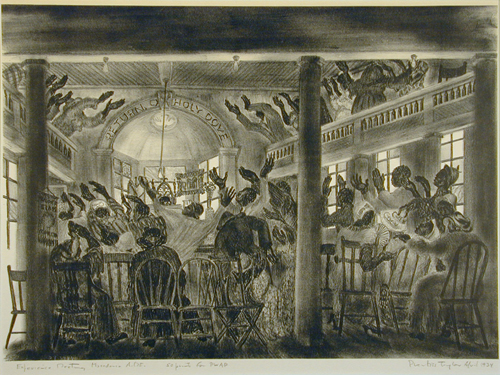 Experience Meeting, Macedonia A.M.E., 1934, by Prentiss Taylor