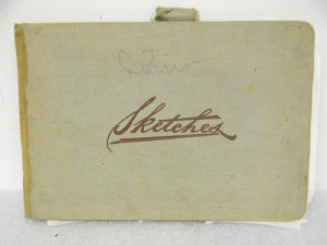 The cover of Alice Ravenel Huger Smith's sketchbook, ca. 1920s.