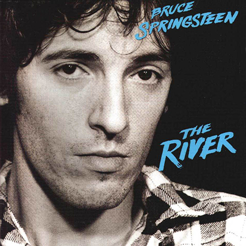 A Frank Stefanko photograph of Bruce Springsteen on the cover of The River, 1980.
