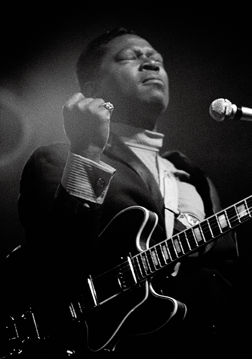 B.B. King, Newport, 1968, by Dick Waterman