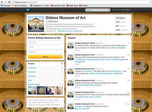 Gibbes Museum of Art Twitter page
