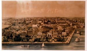 Panorama of Charleston, by John William Hill (British, 1812 - 1879)