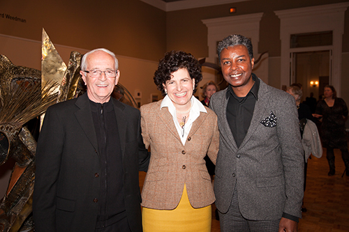 Richard Weedman, Gibbes Executive Director Angela Mack, and Jonathan Green.
