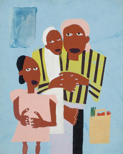 Southern Family Series, 1943, by William H. Johnson (American, 1901–1970), serigraph on paper, 17 x 13 ½ inches, courtesy of Jonathan Green and Richard Weedman.