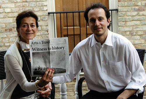 Monica and Andreas Karales celebrate the opening of Witness to History at the Gibbes Museum.