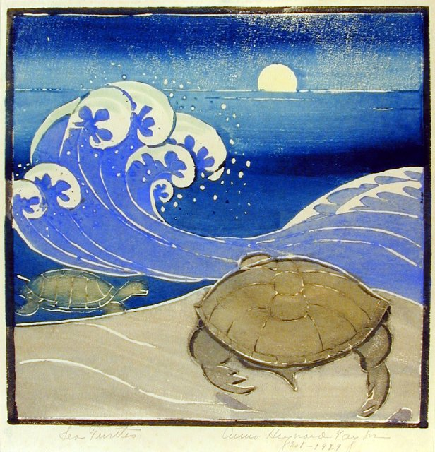 Sea Turtle, 1929, by Anna Heyward Taylor