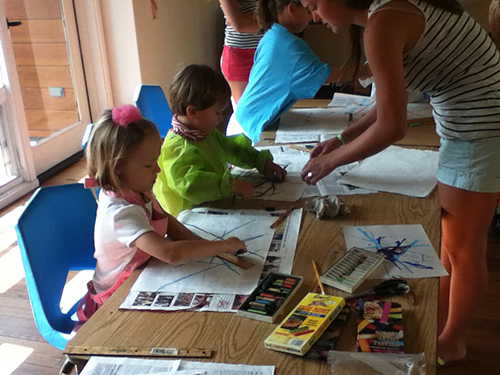 Young campers explore Modern Art.