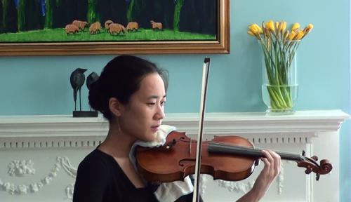 CMC violinist Frances Hsieh.