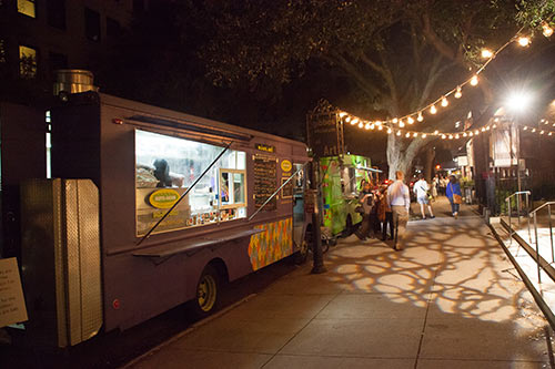 Food Trucks at the Art on Paper Fair