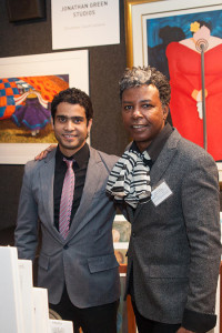 Artists Reynier Llanes and Jonathan Green represented Jonathan Green Studios at the Art on Paper Fair.