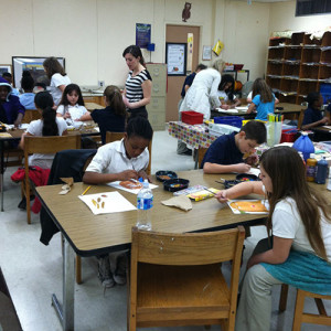 Art to Go program at Angel Oak Elementary.