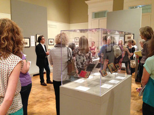 MMA curator of photography, Jeff Rosenheim, led a group through the Photography & the American Civil War exhibition.
