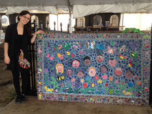 A mosaic created for the 2012 Charleston Marathon by Mitchell Elementary School students.