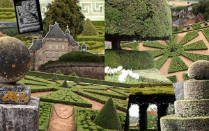 Hautefort France collage by Charlotte Moss.