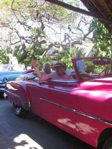 Dr. Hallett enjoying the ride!