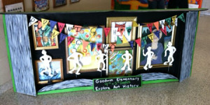 Goodwin Elementary School's art project on display at the Charleston Marathon Expo.