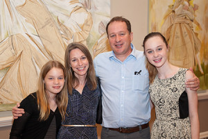 2012 Prize winner John Westmark with his  family at the opening reception of his solo exhibition