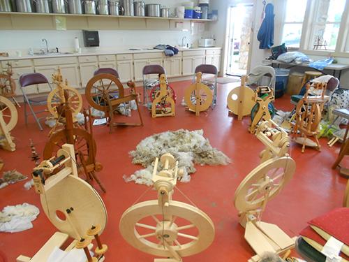 spinning class setup