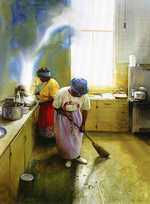 Wednesday Chores, 2004, by Mary Whyte
