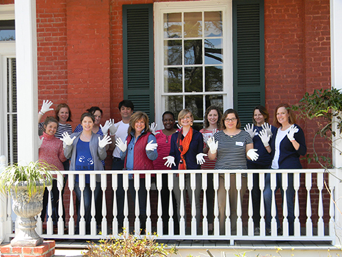 The White Gloves Gang at the Marion County Museum