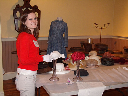 working with textile exhibit at The Museum in Greenwood 2013
