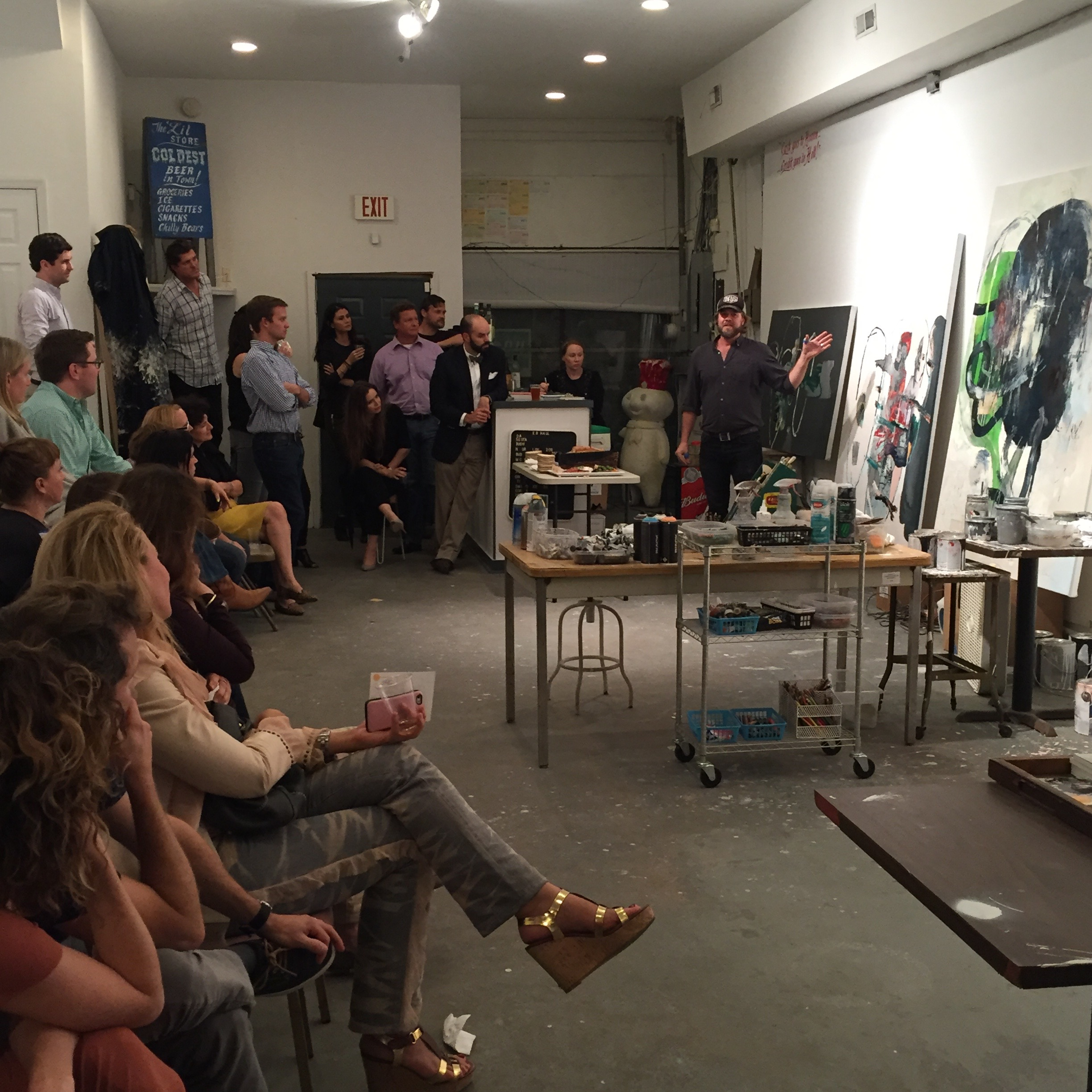 Society 1858 members enjoy a behind-the-scenes peek at Tim Hussey's studio.