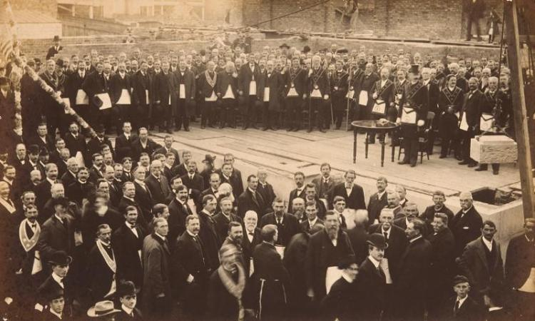 1905 Masonic Ceremony for the Gibbes Museum of Art