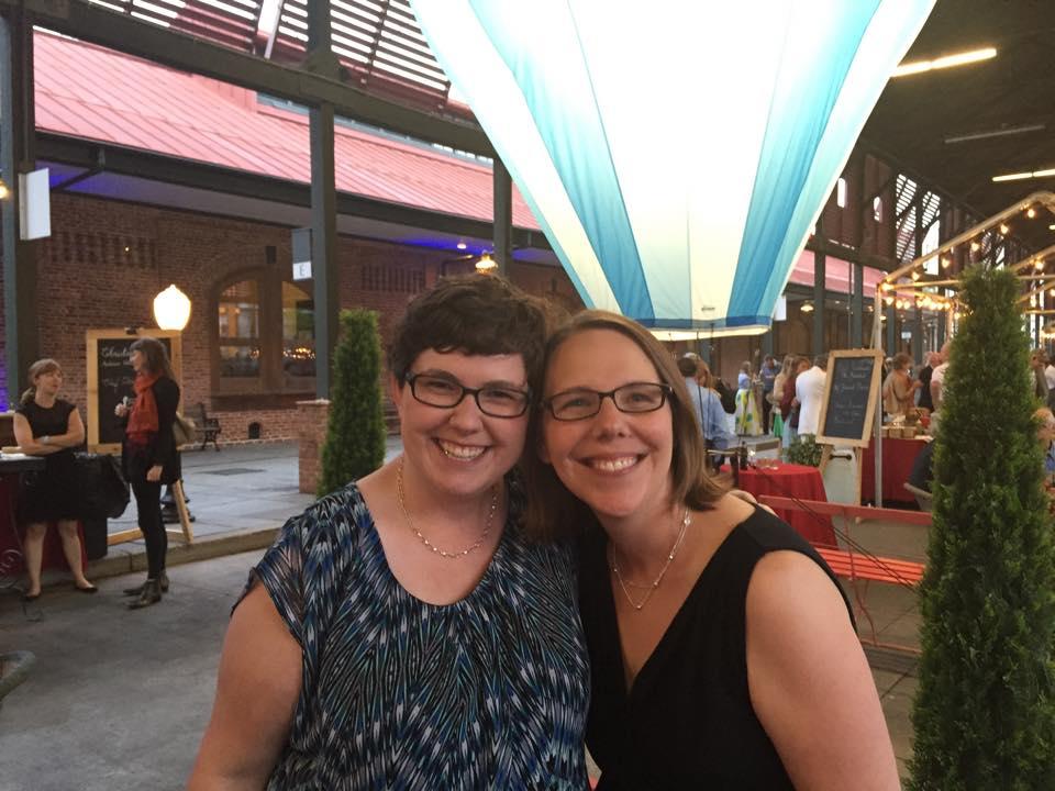 Becca and her sister Julie Foster celebrate La Belle Epoque