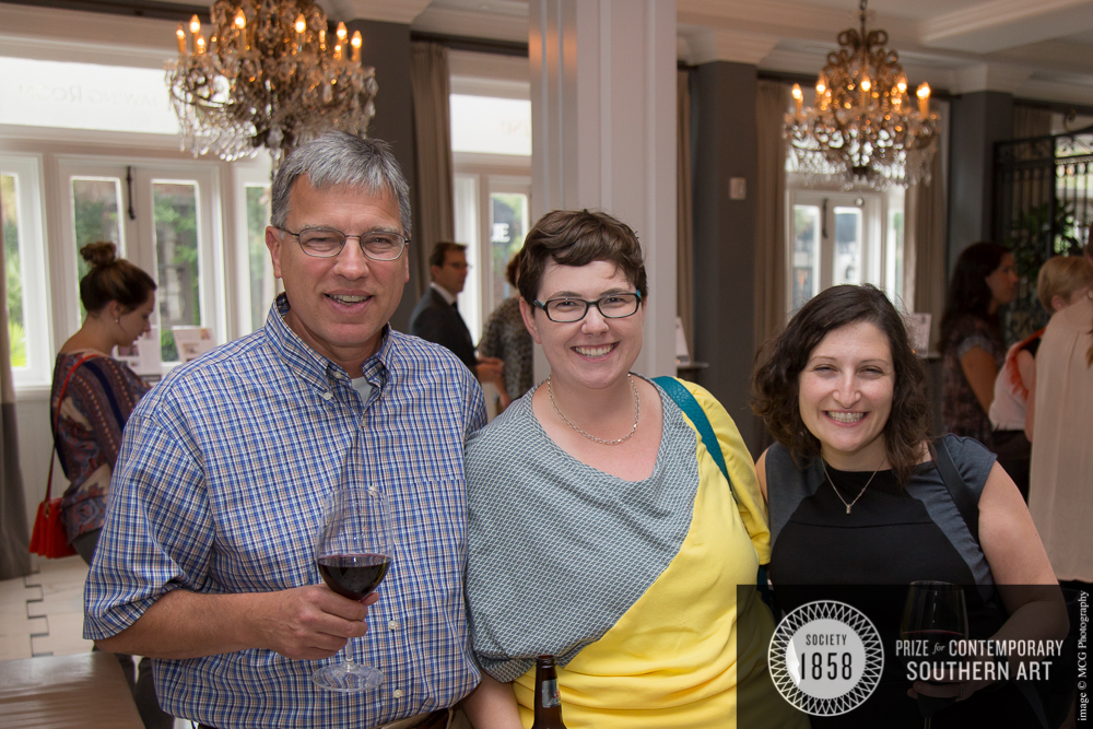 Gibbes CFO Jim Dixon, Becca, and her friend Hannah Hosemann, at the 1858 Prize Unveiling Party in September.