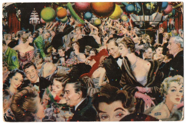 New Year's Eve in the Shermane Suite at the Stork Club, 1953, by Albert Dorne.