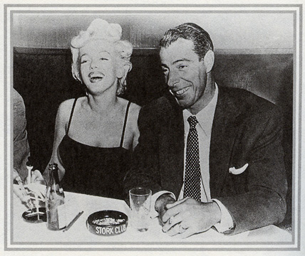 Actress Marilyn Monroe and baseball player Joe Dimaggio.