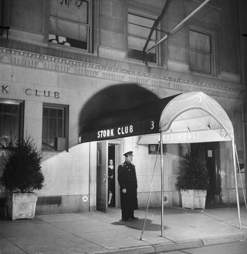 The entrance to the Stork Club in NYC.
