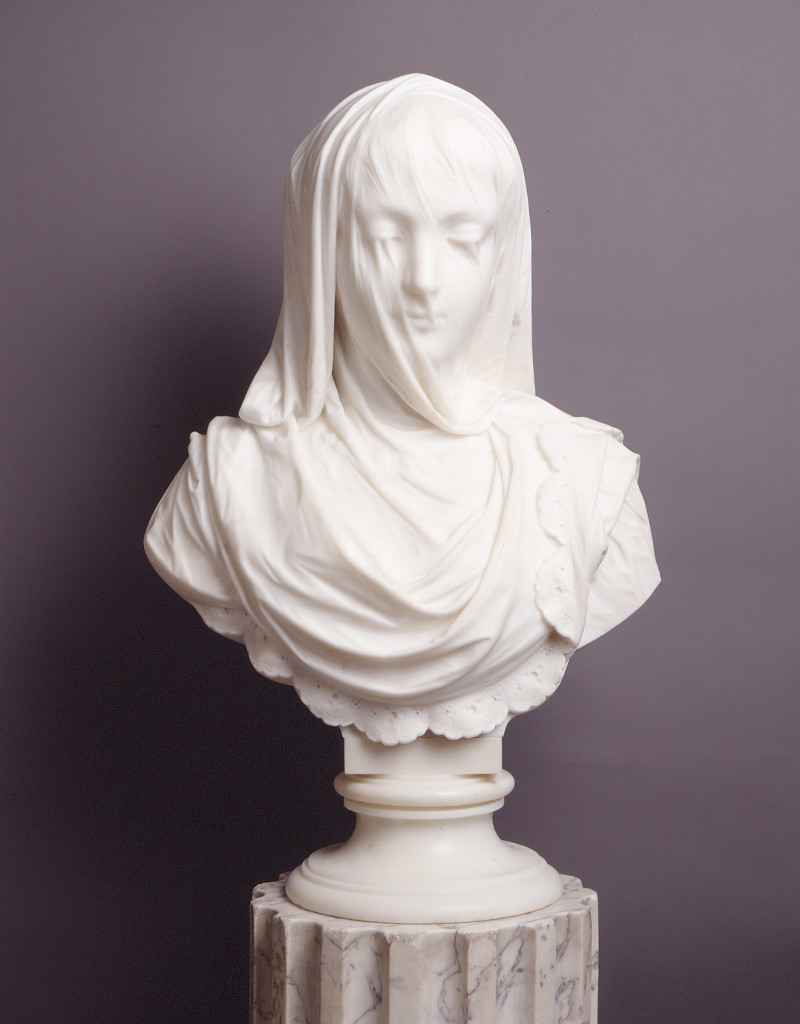 Veiled Lady, 1882, by Pietro Rossi (Italian, active 1856 - 1882)