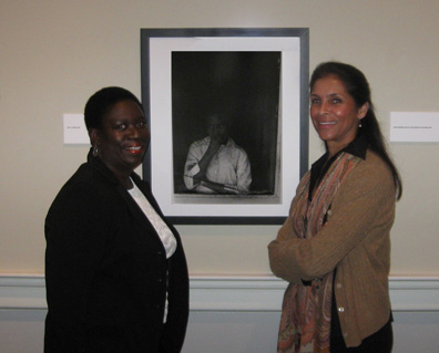 Carlette M. Geddis with photographer Jeanne Moutoussamy-Ashe.  Ms. Geddis is the cousin of the girl in the photograph.