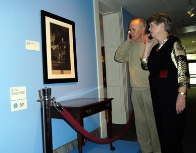Harold Hintz and Phyllis Black enjoying the audio tour