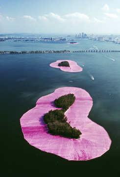 Christo and Jeanne-Claude: Surrounded Islands, Biscayne Bay, Greater Miami, Florida, 1980-83   © Christo 1983