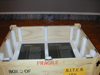 Standard crate built for an exhibition that traveled for two years