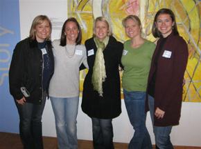 Jr. League volunteers Kristi Dodd, Crissy Rowell, Alisa Brooks, Brooks Johnson, and Mollie Meares