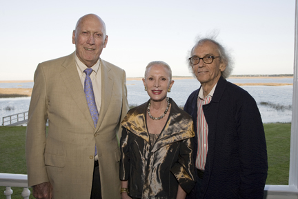 Jim and Esther Ferguson with Christo