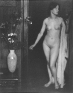 Nude Woman and Vase of Flowers: Miss Thompson, 1907