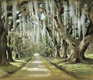 Avenue at the Oaks, Goose Creek, ca. 1953, by Elizabeth O'Neill Verner (American, 1883 – 1979)