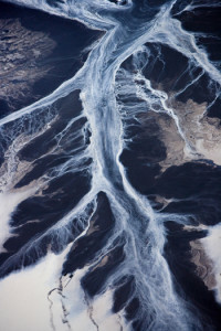 Coal Slurry (Residue stream of water and chemicals resulting from coal washing, Kayford Mountain, WV), 2005, by J. Henry Fair
